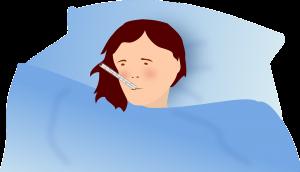 אישה חולה מבוטחת